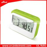 Lowest Price High Quality silicon band 4 colors selectable LCD Alarm Digital Desk Clock count down/count up clock