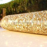 Fashion cheap single color fine glitter fabric ,glitter fabric for walls and shoes