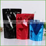 Cheapest Black Ziplock/zipper Aluminum Foil Plastic stand up pouch / Bag Flat bottom bag