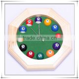 Billiards Ball Style Solid Wood Clock