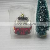 wholesale christmas hanging vw car decoration,handpainted glass vw car                                                                         Quality Choice