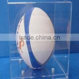 modern acrylic rugby ball display case