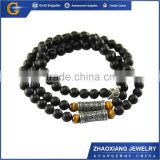 BNC004 China manufacturer stainless steel jewelry religious necklaces with african beads                                                                         Quality Choice