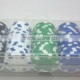 100pcs poker chips set/poker chips set/Plastic box chips/casino chips set/11.5g poker chips set/ept poker chips