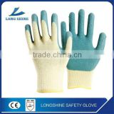 High Quality 10G Seamless Liner Peacock Green Power Free Latex Coated Industry Working Glove