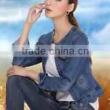 scalloped lady denim jacket short pakistan xxx jean jacket wholesale                                                                         Quality Choice