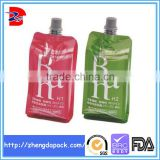 customized sizes printed alcohol hand gel spout bag doypack