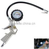 Tire Air Pressure Gauge With Inflating Gun Fit For Auto Car Motorcycle Bicycle Type Measure Meter                                                                         Quality Choice