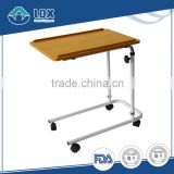 Hot Selling Portable Adjustable Rolling Wood Laptop Talbe Cart Over Bed