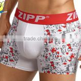 ZIPP Custom Made Wholesale Spandex Underwear Custom Logo With Factory Prices Man Boxers                                                                                         Most Popular
