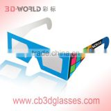 Popular promotional hot selling custom branded colorful foldable paper circular polarized 3d glasses