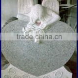 China gray weeping angel heart headstone