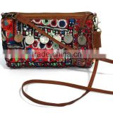 Tribal Shoulder Bag Cross Body Bag Girl's Beautiful Banjara Leather Strap Hand Bag