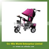 Children tricycle with foldable canopy