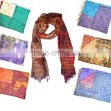 All Over Hand Stiched Indian Silk Kantha Scarves