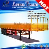 60T cargo semi trailer with side wall open 40ft container flat deck 13m dropside trailers