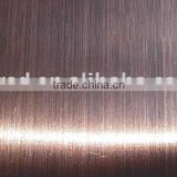 Satin red brass Decorative stainless steel sheet