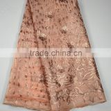 2015 fashion shtyle washable silk fabric heavy silk fabric pink silk brocade fabric for party dress