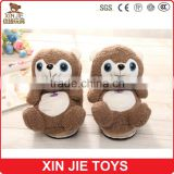 purchasing brown indoor slippers ICTI plush slippers factory hot selling ladies winter indoor plush slippers