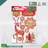 BSCI factory audit Christmas 3D Eco-friendly decorative removable glitter butterfly stickers