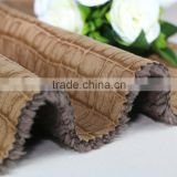Wholesale hot stamping faux fur fabric suede bonded faux fur fabrics faux suede fabric                                                                         Quality Choice