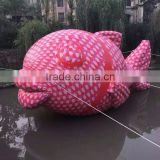 giant Outdoor Inflatable red carp Fish for advertising inflatable farm animals