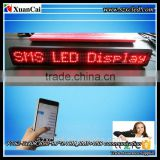 CE RoHS P7.62-7x80R (65.2*9.7*3.4CM ) Indoor GSM(SMS)+ USB led moving message display sign board