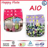 Bamboo Cotton Cloth Diapers One Size Fits Baby Diaper Happy Flute Wholesale