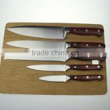 High quanlity forged kitchen knife with red handle                                                                         Quality Choice