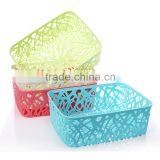 small plastic storage box/colorful storage basket/kitchen storage basket/bathroom rattan basket