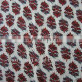 100% rayon herringbone print fabric soft breathable shit fabric fabric material for making dresses