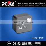 13A Single Iron Cover industrial socket, industrial plug & socket, wall mount socket outlets