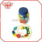 32PCS Wooden Beads Traffic Game Pull Line Toy                                                                         Quality Choice