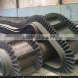 Limestone corrugated sidewall conveyor belt for transportation of large dip angle, industrial conveyor belt