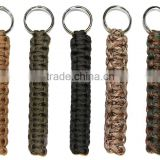 Multi-color Paracord Key Chain 7 Strands Handmade Weave Outdoor Sports Paracord Keychain Ring