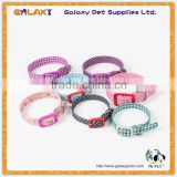 High Quality Lovely Pet Dog Collar with Plastic Buckle Color can be Choose Fashion Design Adjustable