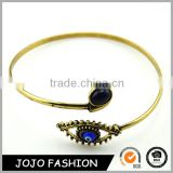 Anti Brass Jewelry Black Stone Evil Eye Cuff Bracelet