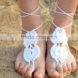 Wholesale Bridesmaid Beach Accessory Crochet Barefoot Sandals Nude Shoes