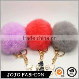 Low Price Bulk Wholesale Mini Cat Rabbit Fur Pom Pom Toy Keychain