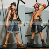 Hot anime plastic action figures ,Hot anime ONE PIECE PVC action figure Luffy+ Ace model action figures