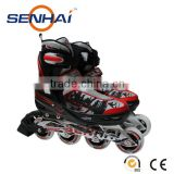 2015 HOT SALE INLINE ROLLER SKATES SHOES ALUMINUM FRAME WITH PU WHEELS PP STOPPER ABEC-5 BEARINGS