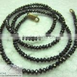 SUPER HIGH QUALITY EXCELLENT BLACK FACETED BEAD DIAMONDS NECKLACE/STRANDS