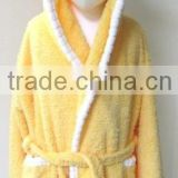 Fluffy and Lovely Baby Robe Hooded Baby Bathrobe