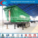 African Use 3 axle dumper trailer front lifting hydraulic dumper trailer 45cbm used truck trailer for sale