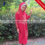 Wholesale High Quality Muslim Kids Abaya Islamic Chirldren Clothing Malaysia Girls Long Dress