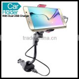 Universal Magnetic Car Mount Stand Holder with Dual USB Charger