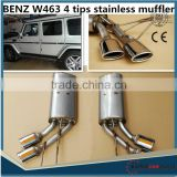 ON PROMOTION!High Quality Stainess Steel Muffler for MB A-STYLE G63 G500 W463