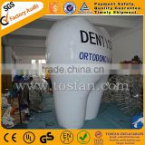 custom inflatable helium balloon with logo,inflatable tooth helium balloon for advertising F2061