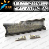 Auto led dome light E46 4D 2D car interior roof lamps for BMW 9-16V DC 3528SMD canbus car interior panel lights