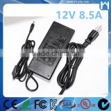 AC Charger Switching Power Supply 12Volt 8.5A For LED Strip 12V 8.5A Adaptor KC approved
